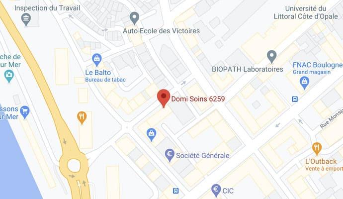 Map DomiSoins Boulogne